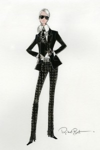 A sketch of Barbie Lagerfeld