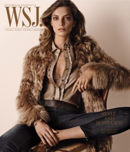 Supermodel turned budding photographer Daria Werbowy front WSJ magazine for September 2014