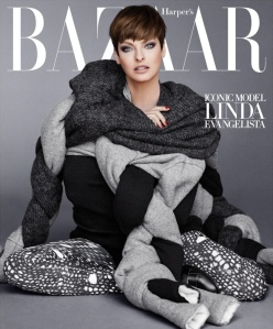 Veteren model Linda Evangelista scored cover of Harper's Bazaar's September issue