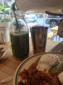 Another shameless food shot...featuring my green juice!