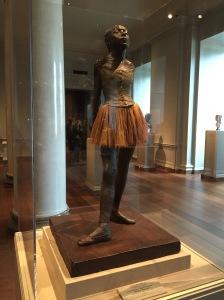 An original wax molding of Edgar Degas'